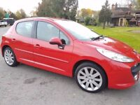 PEUGEOT 207 1.4 HDI SPORT 5DR 87K F/S/H LEATHER INTERIOR £30 ROAD TAX IN V/G/C