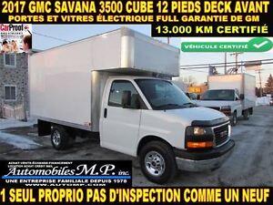 2017 GMC Savana 3500 CUBE 12 PIEDS DECK 13.000 KM