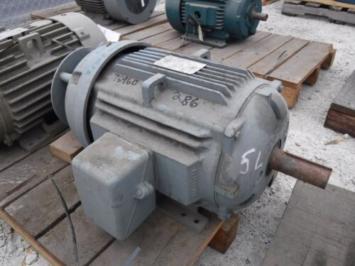 30 Hp General Electric Motor, 1800 Rpm, 284tz 286tz Frame, Tefc, 230/460v, New