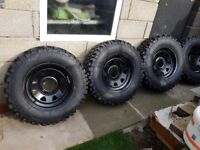 4x4 16 inch Weller Wheels and brand new off road tyres