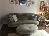 DFS sofa and matching footstool