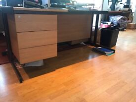 Wooden Office Table/ desk with draws connected