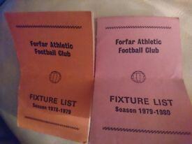 Forfar Athletic FC fixture lists 1970s