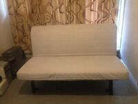IKEA LYCKSELE 2 Seater Double Futon Sofa Bed with Removable Sofabed Heavy Cover VGC (Can Deliver)