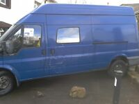 8 Seater Ford Transit 350 LWB TD High roof van 2400cc Ideal for a camper conversion.... NO OFFERS