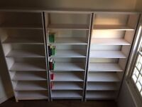 4 solid wood bookshelves / book cases
