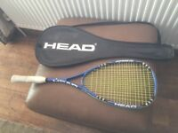 HEAD Squash Racket with carry case in excellent condition