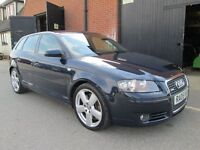 AUDI A3 3.2 QUATTRO S LINE SPORTBACK AUTOMATIC DSG PADDLESHIFT Part exchange available / All cards