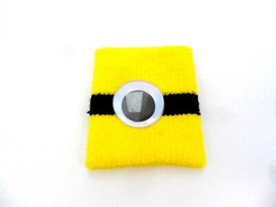 New Womens Girls Minion Wrist-Band Fancy Dress Party Halloween Dspicable Me - Minions Girl Kostüm