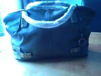 NEW DESIGNER EDINA RONAY BAG IN BOTTLE GREEN WITH CROC DESIGN.