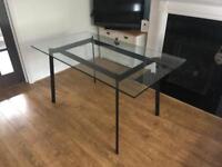 Habitat glass dining table