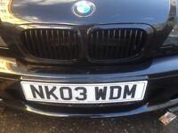 2003 BMW 318ci CONVERTABLE m sport METALIC black full cream leather