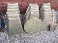 6 foot circular patio slabs