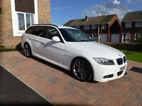 BMW 318d M Sport Plus Edition - Touring in white (61 plate) £30 Road Tax