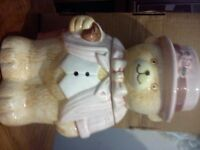 Teddy cookie jar