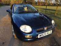MG F steptronic sports car convertable 2000 in blue petrol 1.7L