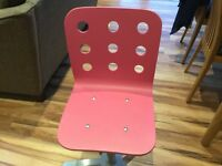 IKEA PINK Junior Desk Chair with free Matching Clock!