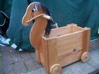 Childrens Wooden Storage Horsebox.