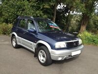 HI SPEC 2003 SUZUKI GRAND VITARA RHINO 5 DR /LOW MILES/NEW MOT/BRAND NEW CAMBELT/IDEAL SIZE 4WD