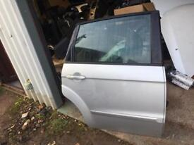Ford s max passenger side rear door fully complete silver 2012