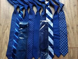 TM Lewin 100% pure silk ties - all new or nearly new