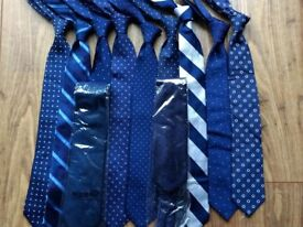 10 x TM Lewin 100% pure silk ties - all new or nearly new