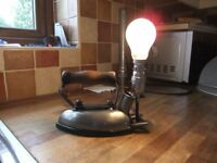 UPCYCLED LAMP VINTAGE IRON UPCYCLED INTO A LAMP A VERY COOL INTERIOR DESIGN PIECE £35