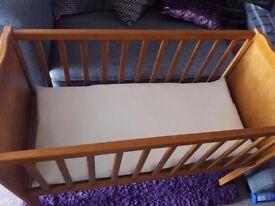Small cot/crib with matress