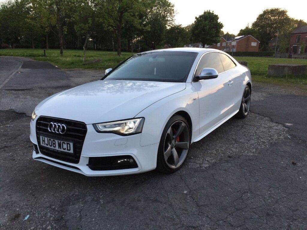 audi a5 3 0 tdi v6 quattro coupe white manual s5 sline. Black Bedroom Furniture Sets. Home Design Ideas
