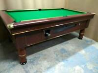 Ex Pub Slate Bed 7x4 Pool Table. New Recover & Accessories. Free Local Delivery