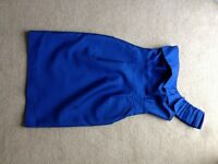 Blue one shoulder short cocktail, size 8, dress