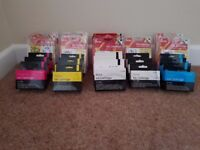 Assortment of Canon compatible printer cartridges CLI-8.. (b&w and colour)