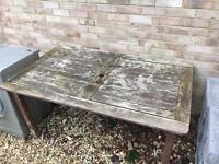 Garden patio wooden table,