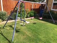 Children's swing set and glider