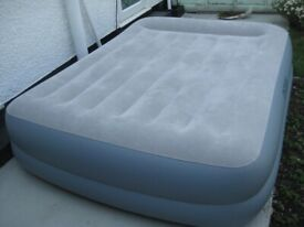 Intex Double Air Bed with Built-In Pump for £40.00