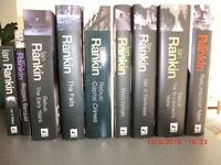 Ian Rankin books: 7 hardback and 2 paperbacks