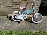 Girls frozen princess bycicle
