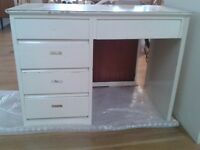 Child's wooden desk with formica top. 5 drawers. Needs new coat of paint. Collect Wargrave,