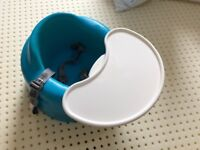 Blue BUMBO soft baby floor seat with tray