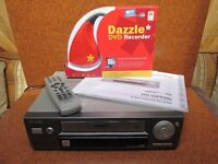 AIWA VHS VIDEO PLAYER + DAZZLE VIDEO TO DVD CONVERTER