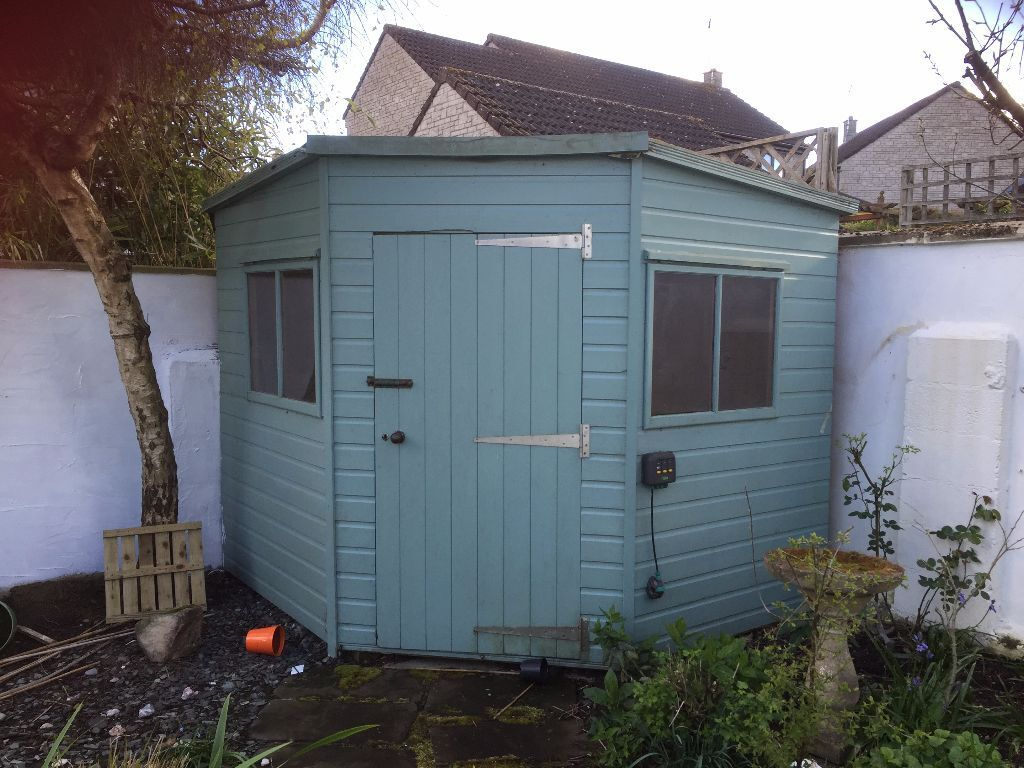 Garden shed for sale good condition fits in a 2 for Garden shed 8x8
