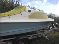 shetland 535 fishing day boat and trailer with suzuki 25 outboard