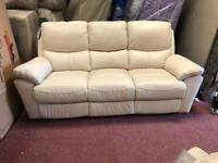 Leather 3 piece reclining suite