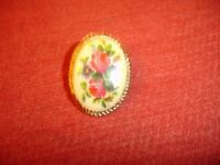 Floral Gold Plated Brooch
