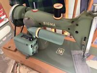 Heavy duty domestic straight stitch portable sewing machine sigma A series machine