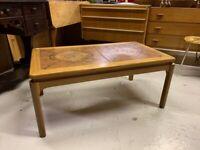 Tile Coffee Table - Retro Antique Vintage Mid Century
