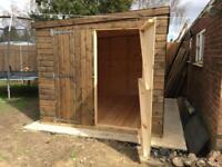 10ft x 8ft Pent Shed, garage, Workshop, very heavy duty, delivery & installation