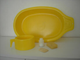 Vintage/collectible dolls bath & potty set. circa 1970's