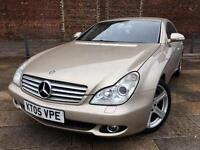 2005 MERCEDES CLS 500 / AUTO / RED LEATHER / ALLOYS / SAT NAV / MARCH MOT .