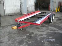 car trailer double wheeler
